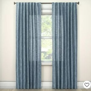Textured Weave Back Tab Window Curtain Panel - Thr